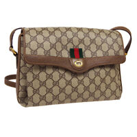 GUCCI Sherry Line GG Cross Body Shoulder Bag 904.02.084 Purse Brown PVC 40714