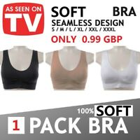Women PACK OF 3 Seamless Vest type Sports Bra Comfy Bras Color Black White Beige