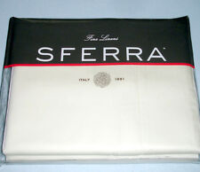 Sferra FIONA Full/Queen Duvet Cover Ivory Egyptian Cotton Sateen Italy New