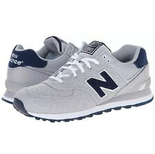 New Balance 574 Pique Polo Pack Grey Navy Blue Shoes Sneakers 11.5 Mens ML5