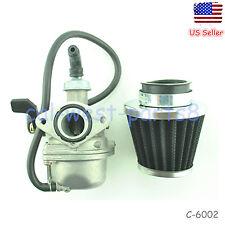 19mm Carburetor W/Air Filter Fits Honda crf 7 CRF70 Dirt Pit Bike Carb 2008-2012