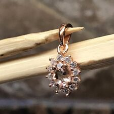 Natural Peach Morganite 14k Rose Gold Over Sterling Silver Pendant 16mm
