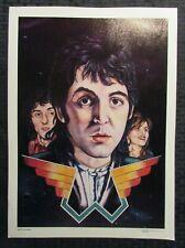 """1979 PAUL McCARTNEY & WINGS 11.75x16.25"""" Print #54 by Steven Chapple FVF 7.0"""