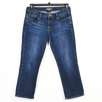 Lucky Brand Jeans Womens Size 6/28 Blue Dark Wash Sweet N Crop Mid Rise
