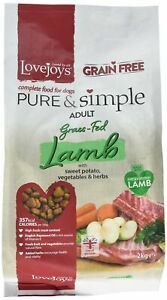 Lovejoys Pure and Simple Complete Dry Grain Free Dog Food Lamb and Sweet Pota...