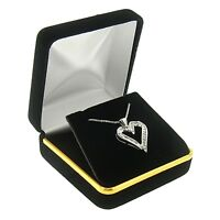 Red Velvet Chain Necklace Box Display Jewelry Gift Boxes Gold Trim 12 Dozen