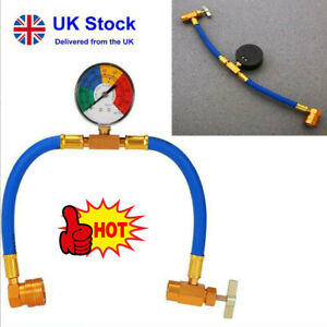 Car Vehicle Air Conditioning Refrigerant Charging Kit Gas R134A Hose UK