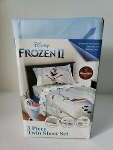 "Disney Frozen II 3 pc Twin Sheet Set ""Frozen Olaf's Journey"" *BRAND NEW*"
