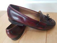 Men's Dress Shoes COLE HAAN Tassel Loafer Sz 13 D Burgundy Leather