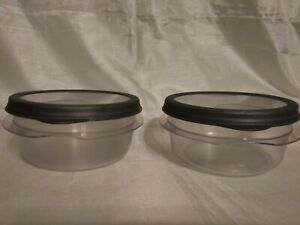 Set of 2 Rubbermaid Stainshield 2.1 Cups/1.1 Pt  Container With Lid