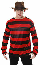 Red & Black Striped Jumper Sweater Freddy Krueger Elm St Halloween Fancy Dress