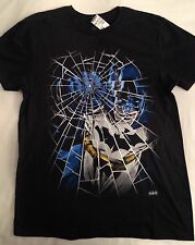 Batman T-Shirt Men's Tee Shirt Size Medium M Black DC Comics Originals NWT