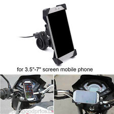 "Motorcycle ATV 3.5-7"" Mobile Phone GPS Mount Holder with USB Charger For Ducati"
