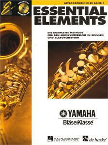 Essential Elements Bläserklasse Altsaxophon in Es Eb Band 1 Noten mit CD