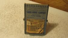 1938 Mini Desk Calendar Tabor-Burns Burlington, Iowa