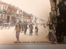 VINTAGE REAL PHOTO  POSTCARD  SHANGHAI,  CHINA NANKING ROAD   USED