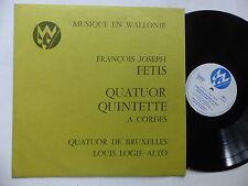Musique en Wallonie FRANCOIS JOSEPH FETIS  LOUIS LOGIE ALTO Quatuor de Bruxelles