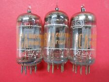 Rca Set of Three Strong 5963 Vacuum Tubes From 1961 Matched Date Codes