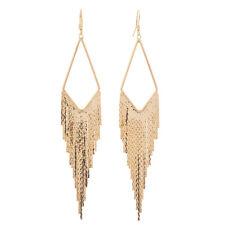 HUCHE Hollow Dangle Chain 18K Silver Gold Filled Women Lady Tassel Hook Earrings
