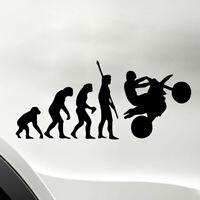1PC Convenient Human Evolution Motorcycle Car Stickers PET Reflective Decals