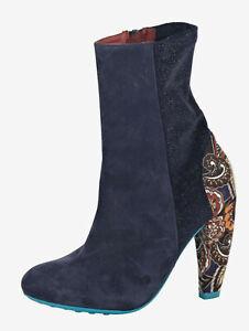 Desigual Damen Stiefeletten Schuhe Stiefel Blau Gr. 39, Gr. 40 0318922920