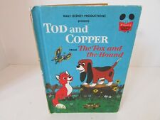 Walt Disney'S Tod And Copper Fox & Hound 1981 Random House Hardcover Childrens