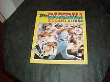 1981 Topps Baseball Sticker Album unused George Brett Pete Rose Cover