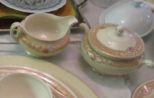 Pair 1940's Eggshell Nautilus Laughlin N1690 Cream and Sugar