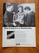 1968 Coleman Camping Ad  What to look for in a Sleeping Bag