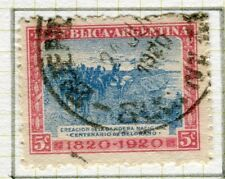 ARGENTINA;  1920 early Belgrano issue fine used  5c. value