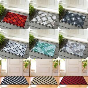 New Modern Non-Slip Door Mats Indoor Outdoor Washable Rugs Hallway Runner Mats