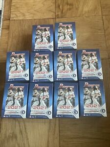 2021 Bowman Baseball LOT OF 10 Blaster Value Box SEALED IN HAND READY TO SHIP