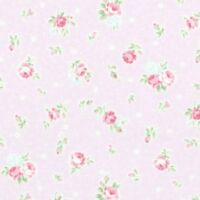 Cottage Shabby Chic Lecien Princess Rose Small Roses 31267L-110 Lavender BTY