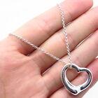 """Tiffany & Co. Elsa Peretti 925 Sterling Silver Open Heart Chain Necklace 15"""""""