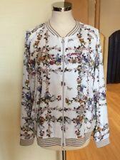 Riani Bomber Jacket Size 16 BNWT Cream Green Orange Floral RRP £285 Now £128