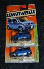 2011 MATCHBOX METRO RIDES NISSAN CUBE BLUE 30/100 SET OF TWO