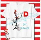 Dr. Seuss Alphabet Custom T-shirt PERSONALIZE tshirt Birthday gift, Choose Name