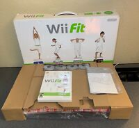 Nintendo Wii Fit Balance Board Bundle W/Fitness Game in Box