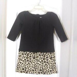 Girls Gymboree Brown Leopard Print Dress Size 10