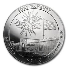 2013---5 OUNCE AMERICA THE BEAUTIFUL--FORT MCHENRY (BU)  .999 FINE SUPER NICE!!!