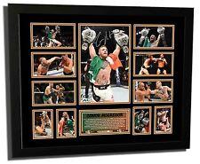 CONOR MCGREGOR UFC 2 DIVISION CHAMPION SIGNED LIMITED EDITION FRAMED MEMORABILIA