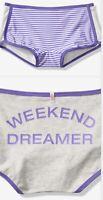 Victoria Secrets PINK Women's Shortie Body Shorts In Purple & White