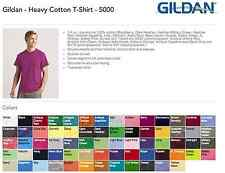 100 Blank Gildan Heavy Cotton T-Shirt Wholesale Bulk Lot ok to mix S-XL & Colors