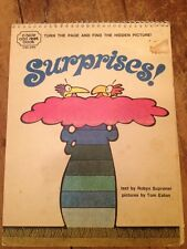 SALE!!! Vintage Kids Book SURPRISES 1971 A Hide And Seek Book Supraner-Eaton