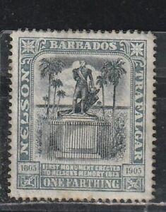 1906 British colony Barbados stamps, 1f MH no gum, SC 102