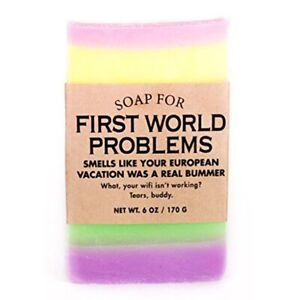 First World Problems Soap Funny Novelty Soap Bar Wash Hand Body Clean