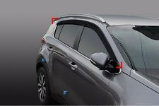 Smoked Window Door Visor Wind Rain Vent 4P For 17 Kia Sportage : QL