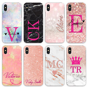For iPhone 8/7/6/Plus/5s/XS/Max/XR/11/Case Personalised initials Name Phone zx55