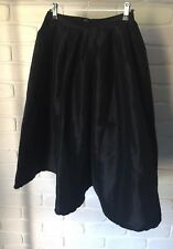 Black Semi Formal Cocktail Shiny Full A Line High Waist Midi Skirt Size XL