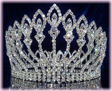"""Bijou de tête pageant crown diadème élection Miss Mariée cristal """"RADIANCE"""""""